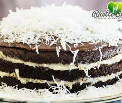 Torta brasiliana al cocco e cioccolato