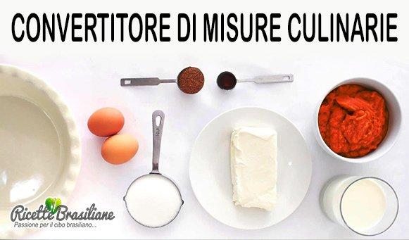 Convertitore di Misure Culinarie