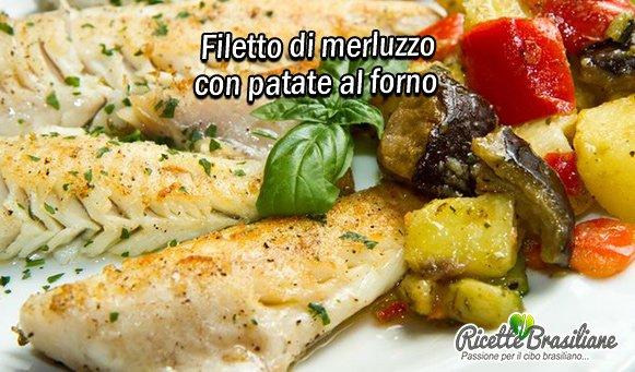 Filetto di merluzzo con patate al forno